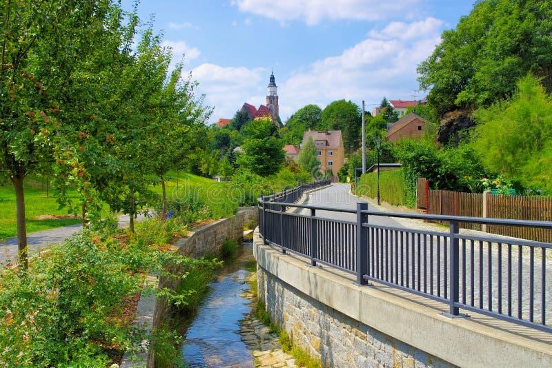 Staden Kamenz, Sachsen i Tyskland royaltyfri foto