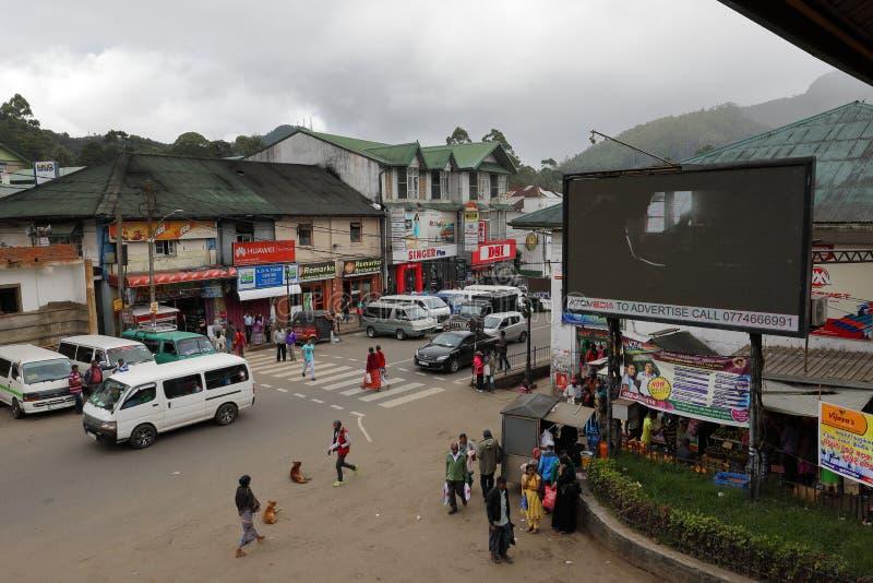 Staden Nuwara Eliya i Sri Lanka fotografering för bildbyråer