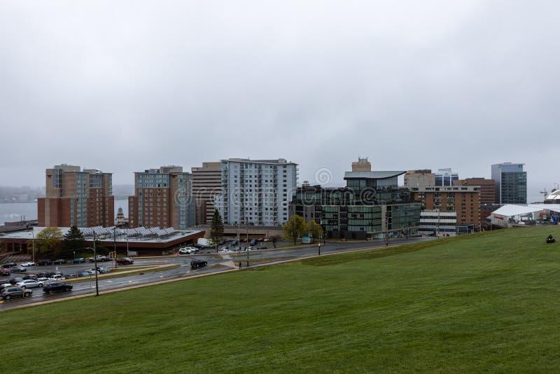 Staden och centrala delen av staden Halifax i Kanada arkivfoton