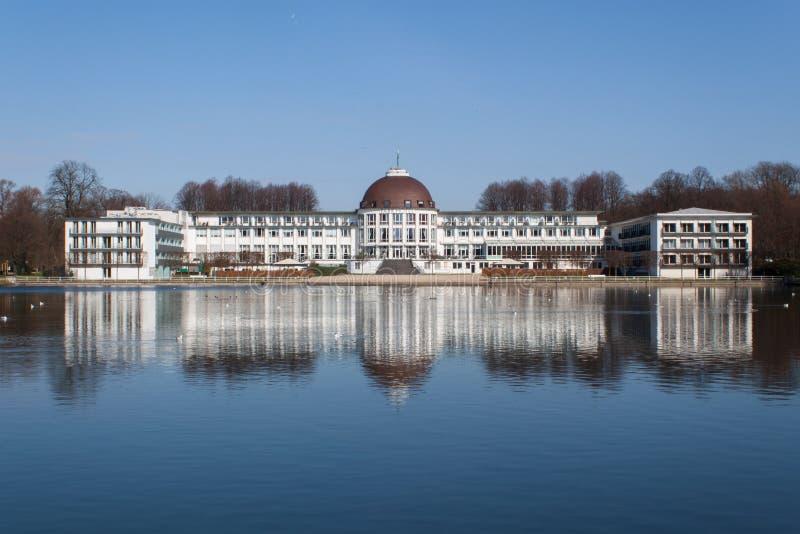 Staden parkerar Bremen arkivbild