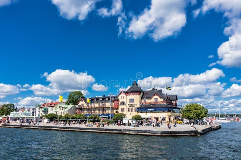 Staden Vaxholm royaltyfria bilder