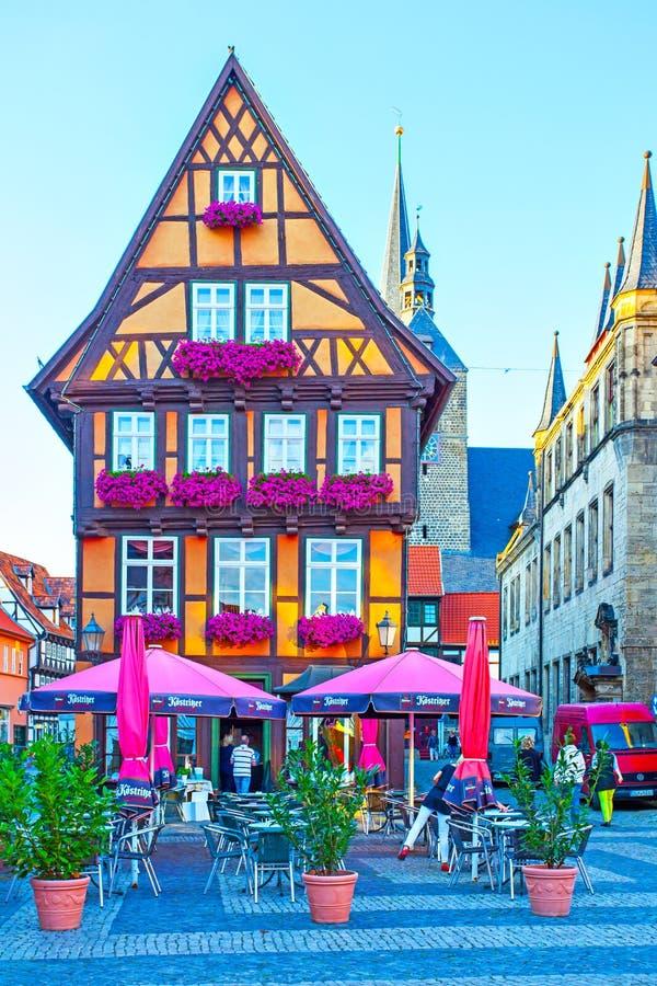 Stadfyrkant i Quedlinburg fotografering för bildbyråer