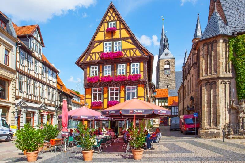 Stadfyrkant i Quedlinburg arkivbild
