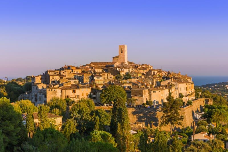 Stadhelgon Paul de Vence i Provence Frankrike arkivbilder