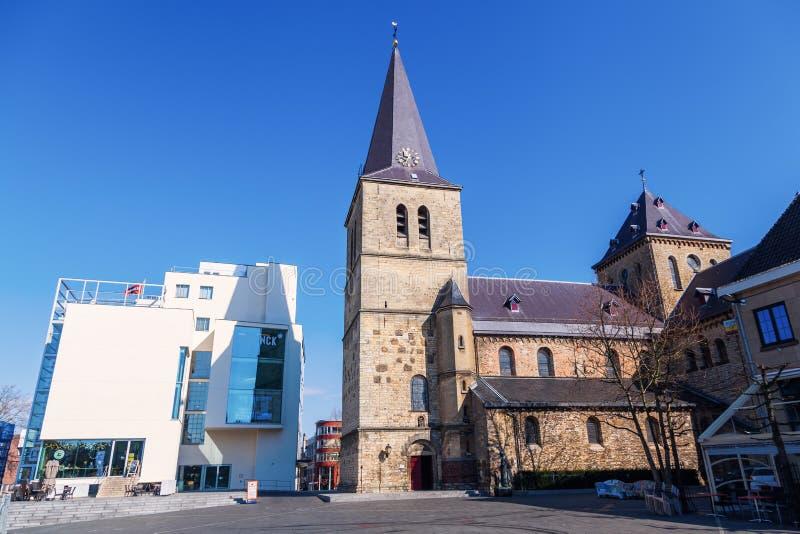 Stadhjärta av Heerlen, Nederländerna arkivfoto