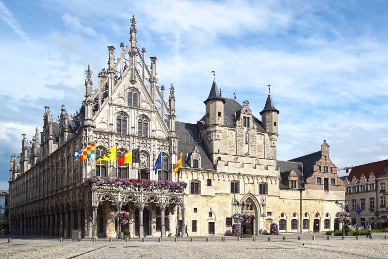 Stadhuis, ратуша Mechelen стоковая фотография rf