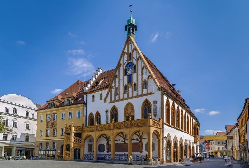 Stadhuis in Amberg, Duitsland stock foto