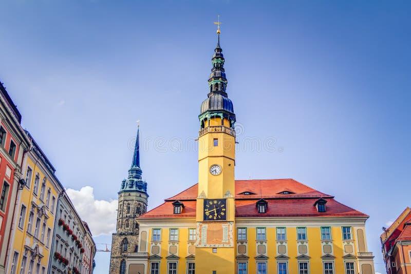 Stadhuis in Bautzen stock foto's