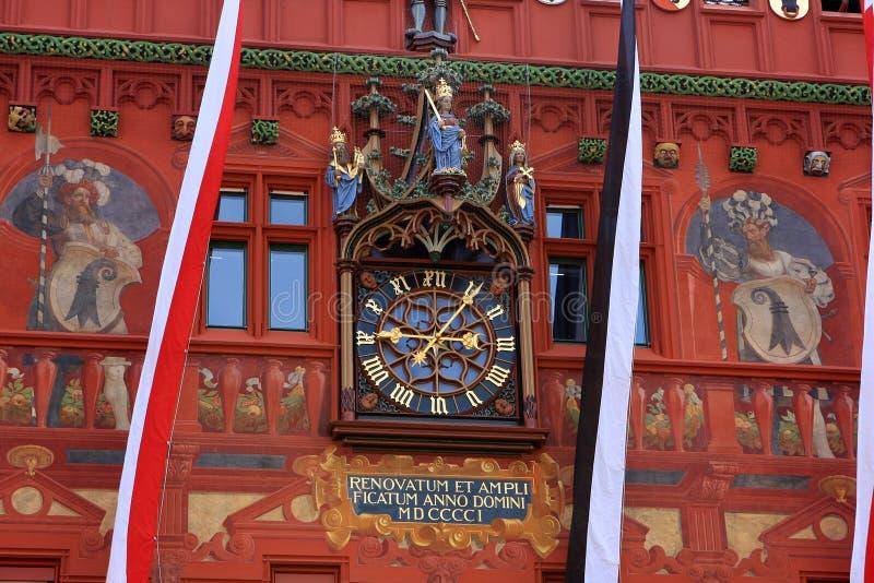 Stadhuis, Bazel stock afbeelding