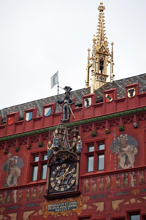Stadhuis in Bazel, Zwitserland stock afbeeldingen