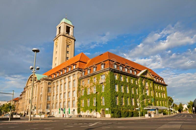 Stadhuis Berlijn-Spandau (Rathaus Spandau), Duitsland royalty-vrije stock fotografie
