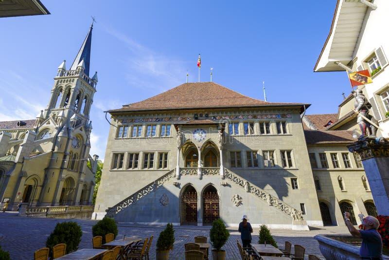 Stadhuis in Bern stock foto's