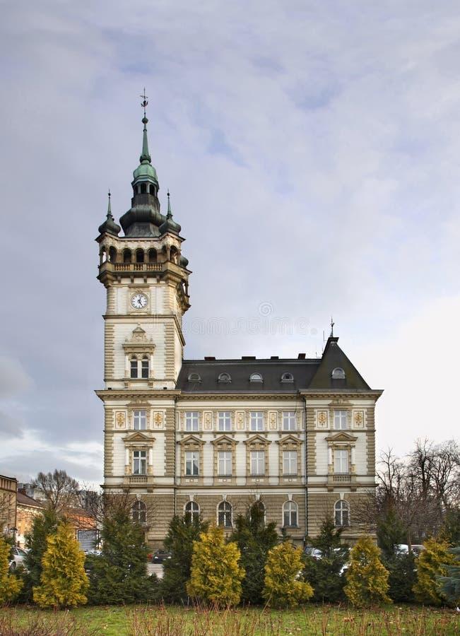 Stadhuis in bielsko-Biala polen stock afbeelding