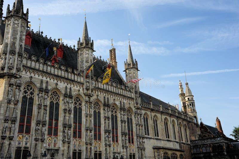 Stadhuis Bruges fotografia stock