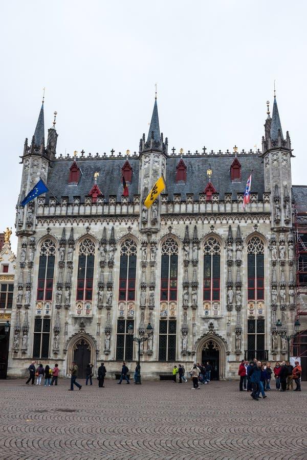 stadhuis in Brugge stock foto's