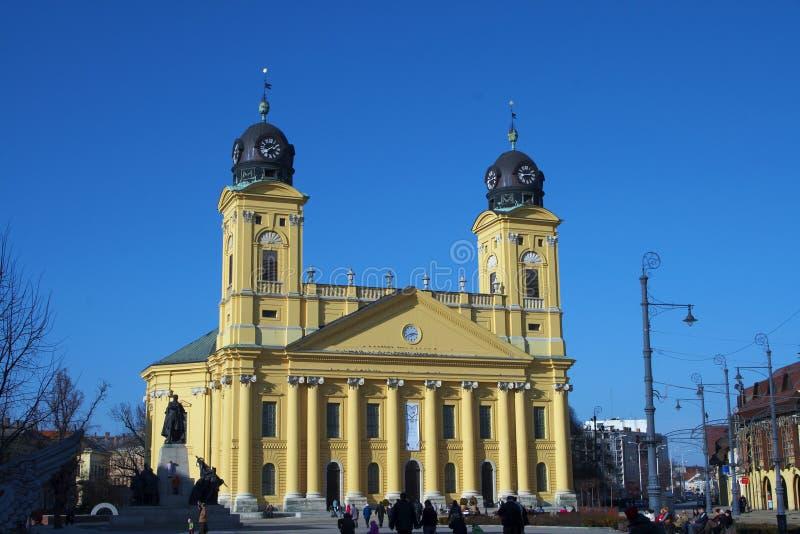 Stadhuis, Debrecen. stock foto