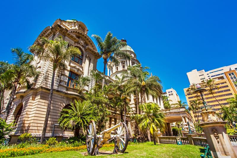 Stadhuis in Durban Zuid-Afrika royalty-vrije stock afbeelding