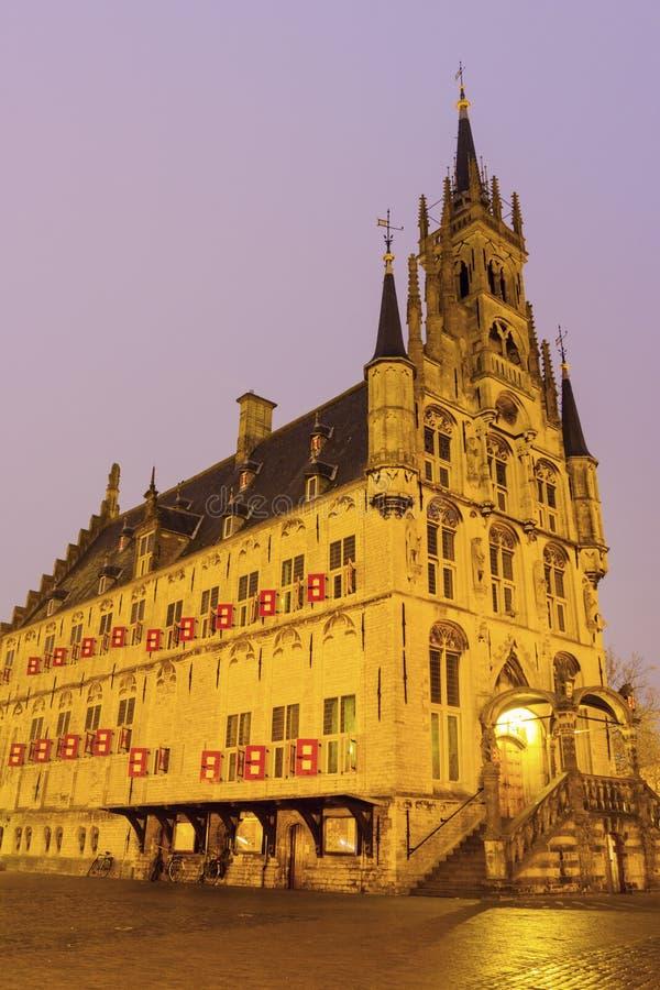 Stadhuis in Gouda royalty-vrije stock afbeeldingen