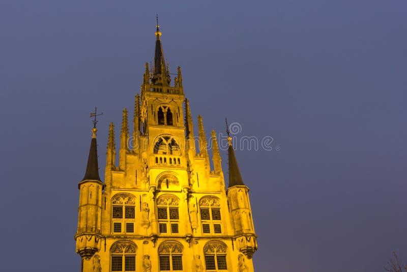 Stadhuis in Gouda stock afbeelding