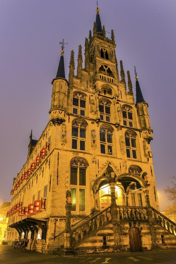 Stadhuis in Gouda royalty-vrije stock foto's