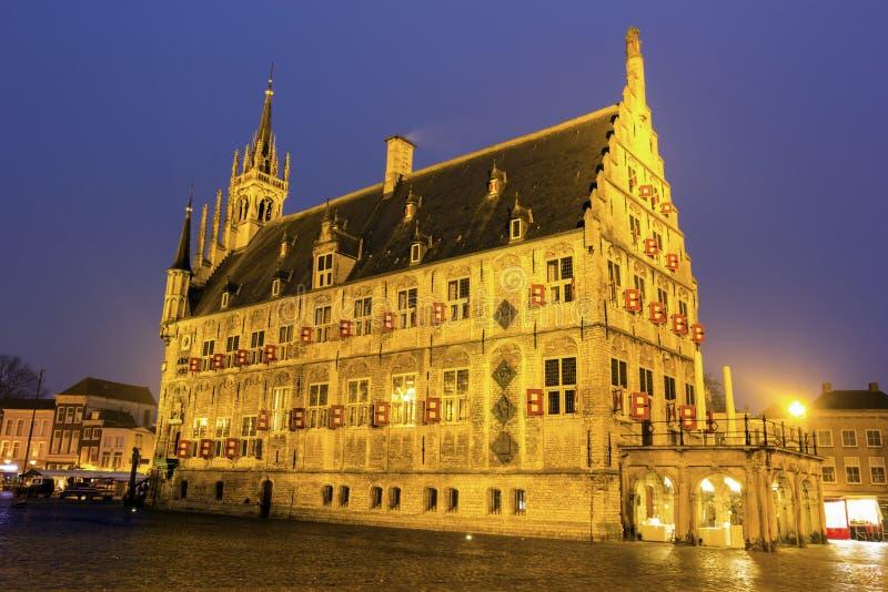 Stadhuis in Gouda royalty-vrije stock foto