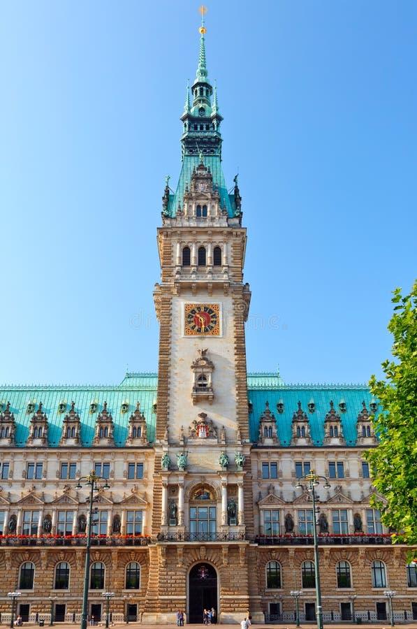 Stadhuis in Hamburg royalty-vrije stock foto's
