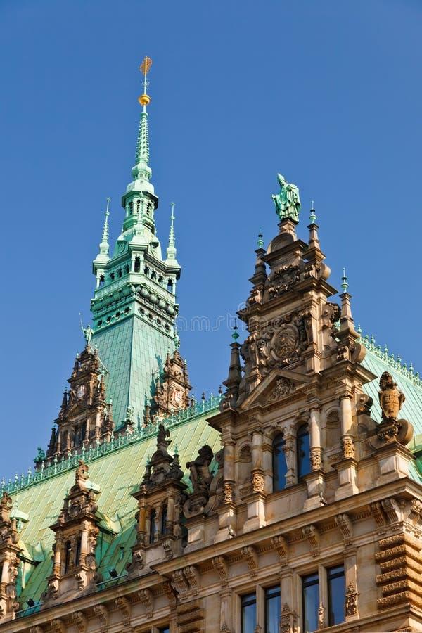 Stadhuis in Hamburg stock afbeelding
