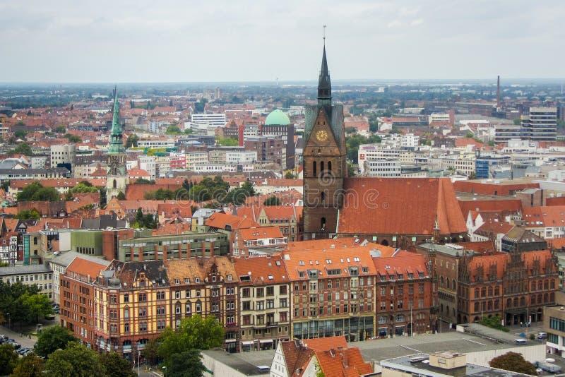 Stadhuis in het centrum van Hanover stock foto