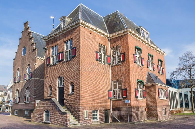 Stadhuis in het centrum van Veendam royalty-vrije stock foto