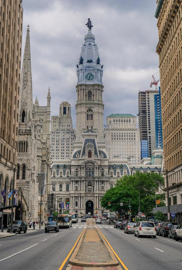 Stadhuis in het historische district van Philadelphia stock fotografie