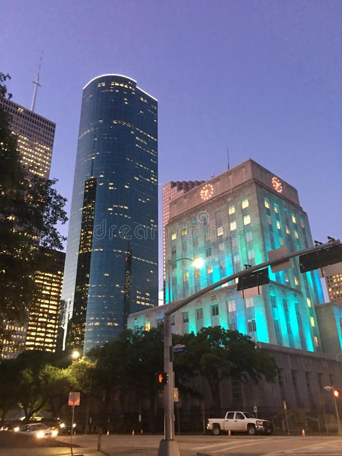 Stadhuis, Houston TX royalty-vrije stock foto's