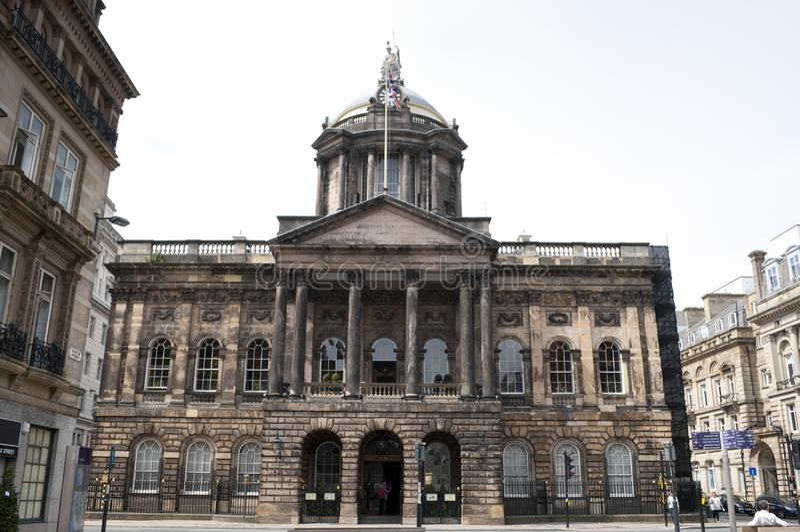 Stadhuis, Kasteelstraat, Liverpool, het UK royalty-vrije stock foto's
