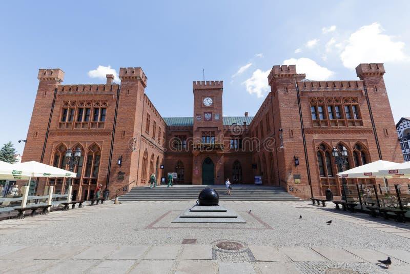 Stadhuis in Kolobrzeg stock fotografie