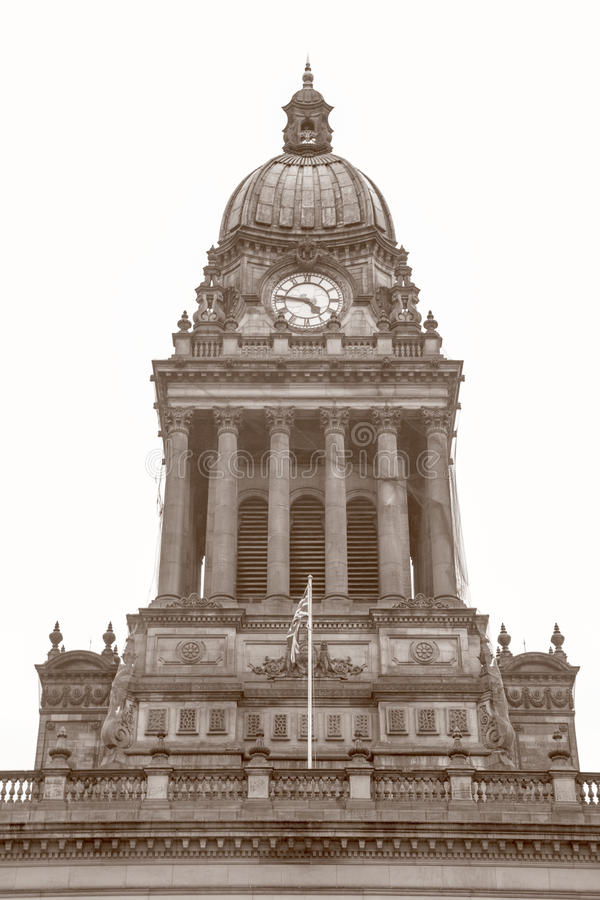 Stadhuis; Leeds; Yorkshire royalty-vrije stock afbeelding