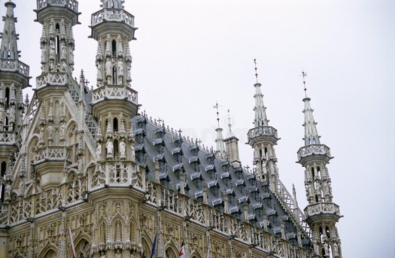 Stadhuis Leuven, België royalty-vrije stock foto's