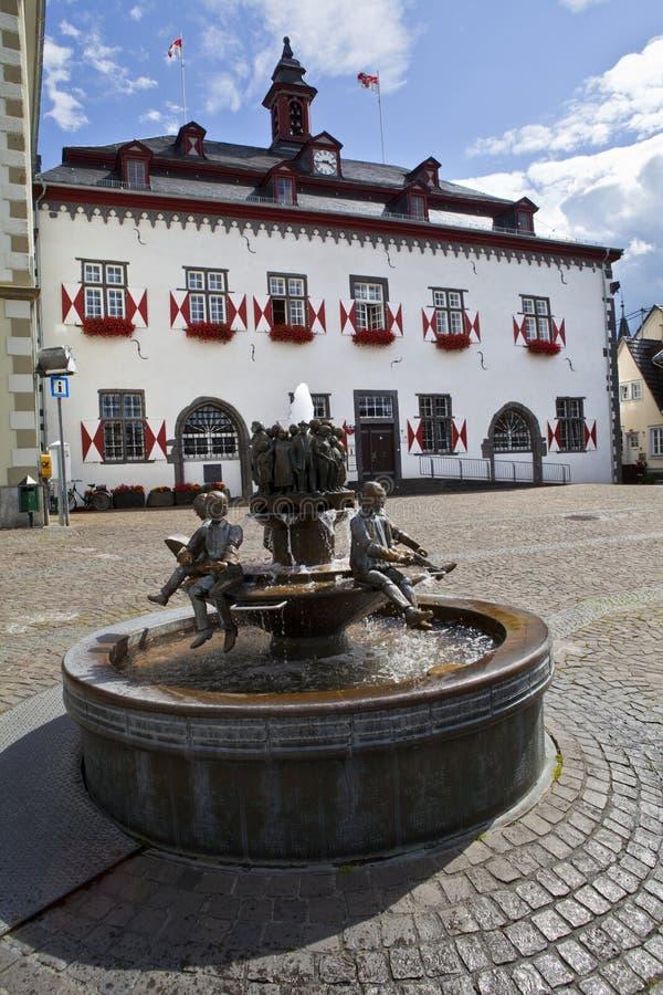 Stadhuis in Linz am Rijn royalty-vrije stock afbeeldingen