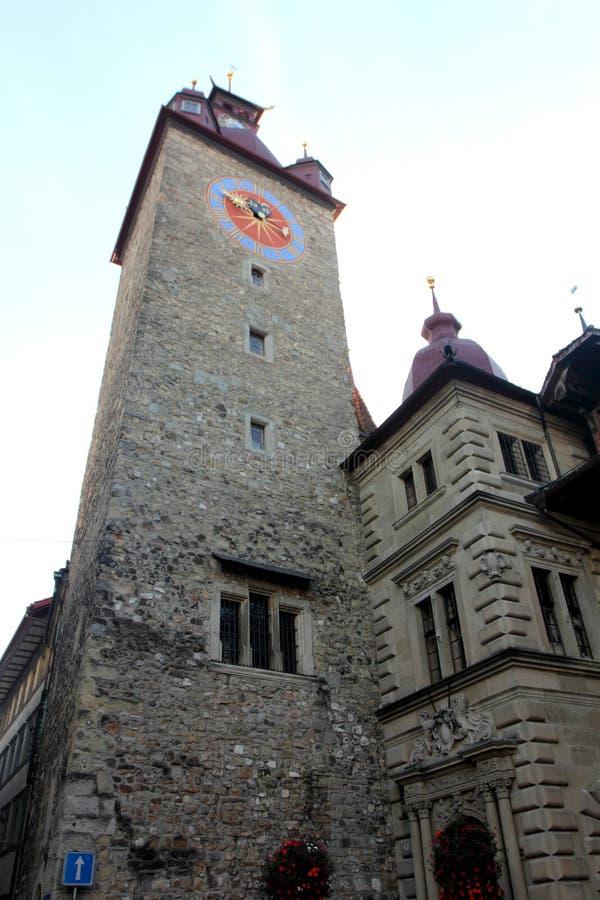 Stadhuis in Luzerne stock foto