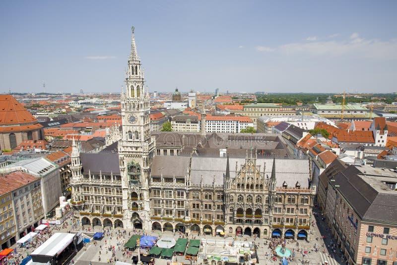 Stadhuis, M?nchen, Duitsland stock fotografie