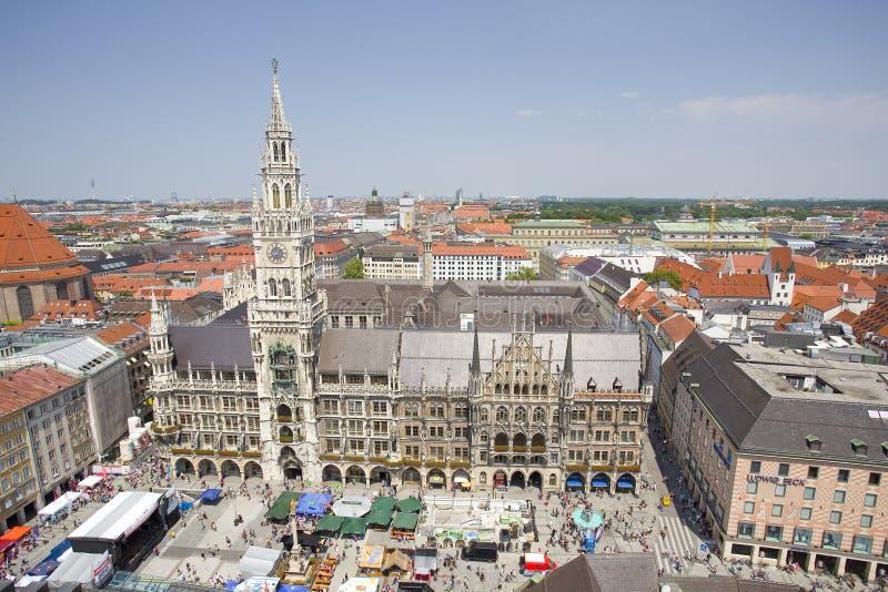 Stadhuis, M?nchen, Duitsland stock afbeeldingen