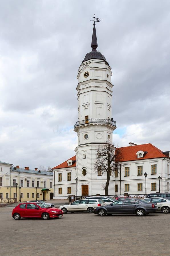 Stadhuis (Museum van de Geschiedenis van Mogilev), Wit-Rusland royalty-vrije stock afbeeldingen