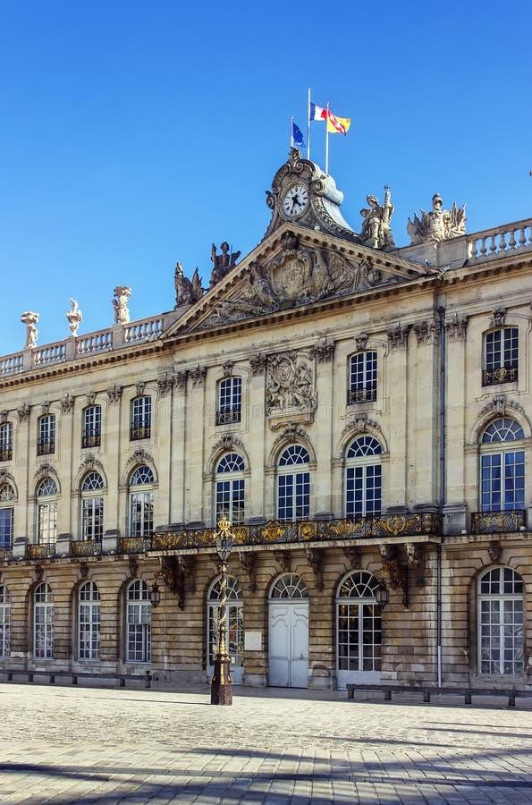Stadhuis in Nancy, Frankrijk royalty-vrije stock afbeeldingen