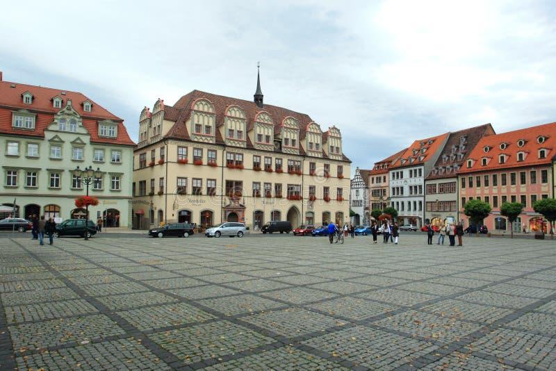 Stadhuis in Naumburg stock afbeeldingen