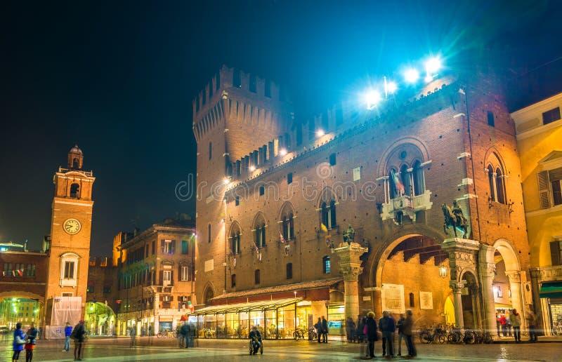 Stadhuis (Palazzo Municipale) van Ferrara stock foto