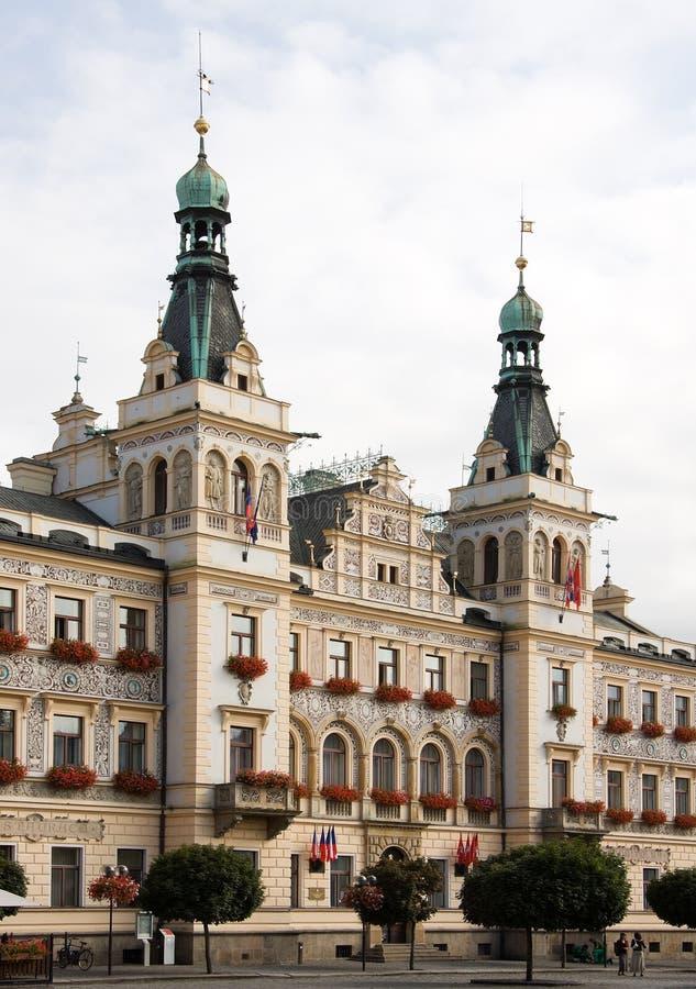 Stadhuis in Pardubice royalty-vrije stock foto