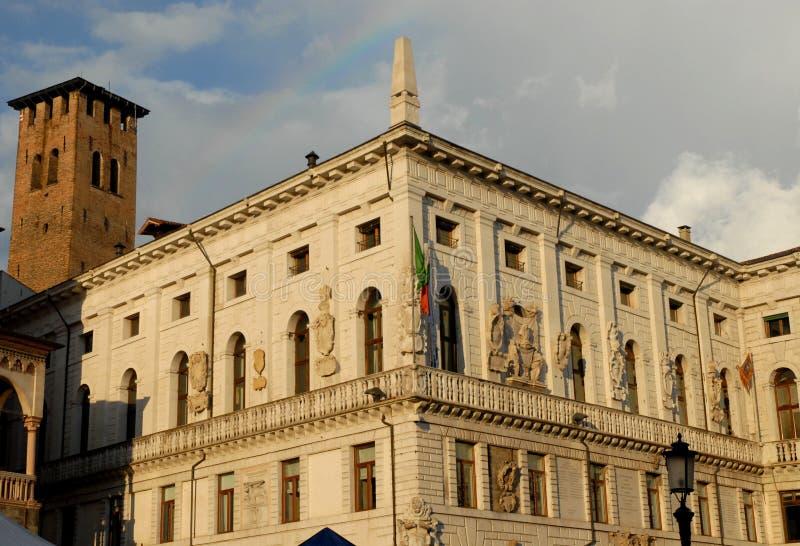 Stadhuis in Piazza delle Erbe in Padua in Veneto wordt gevestigd (Italië dat) royalty-vrije stock afbeelding