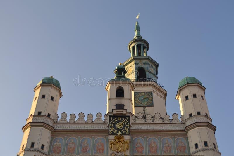 Stadhuis in Poznan royalty-vrije stock foto