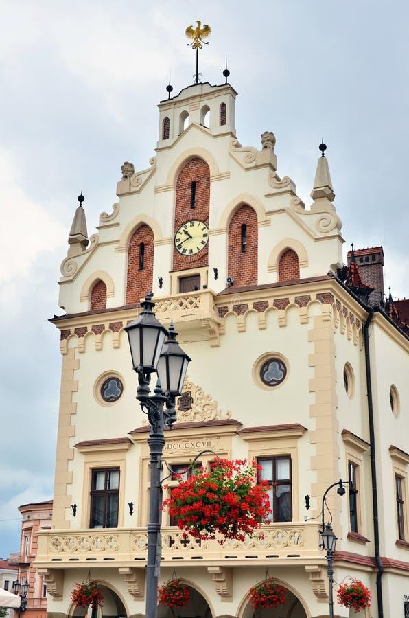 Stadhuis in Rzeszow, Polen stock foto's