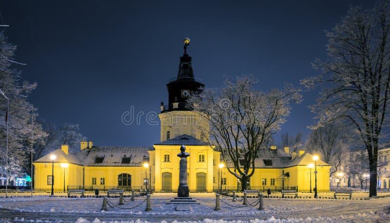 Stadhuis in Siedlce, Polen royalty-vrije stock foto