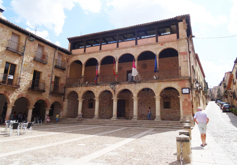 Stadhuis, Siguenza, Spanje royalty-vrije stock afbeelding