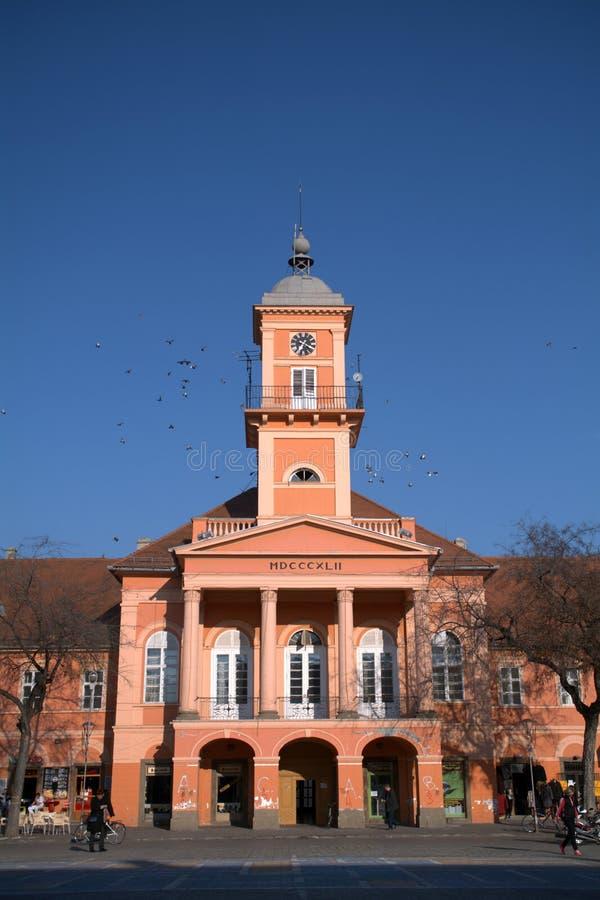 Stadhuis, Sombor, Servië stock afbeelding